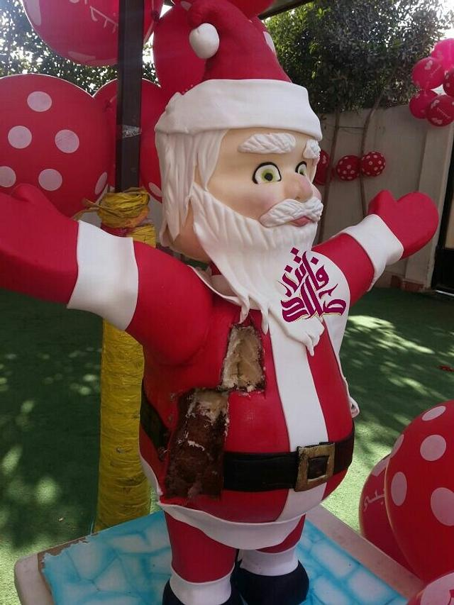 3d Santa Claus cake