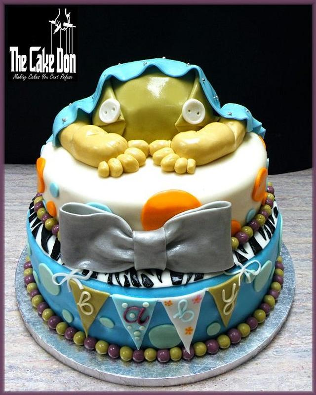 """The """"ROCK A BYE BABY"""" Baby Shower Cake"""