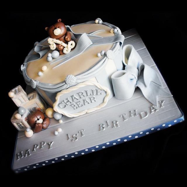 Phenomenal Baby Boys 1St Birthday Cake Cake By Dee Cakesdecor Birthday Cards Printable Trancafe Filternl