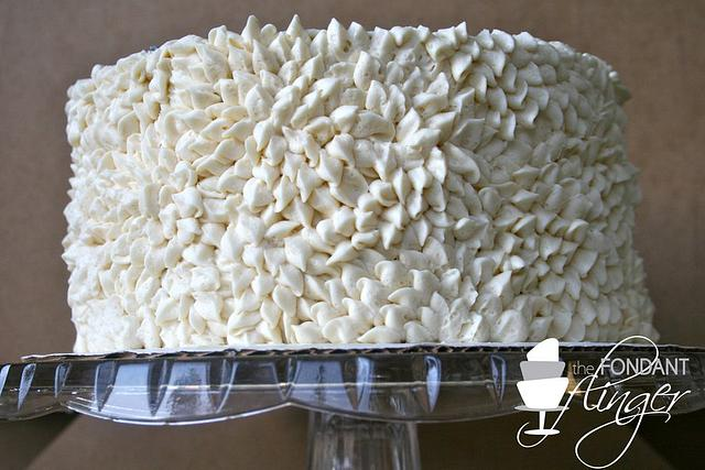 Buttercream petal cake