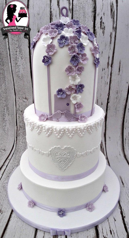 3 Tier Birdcage wedding cake