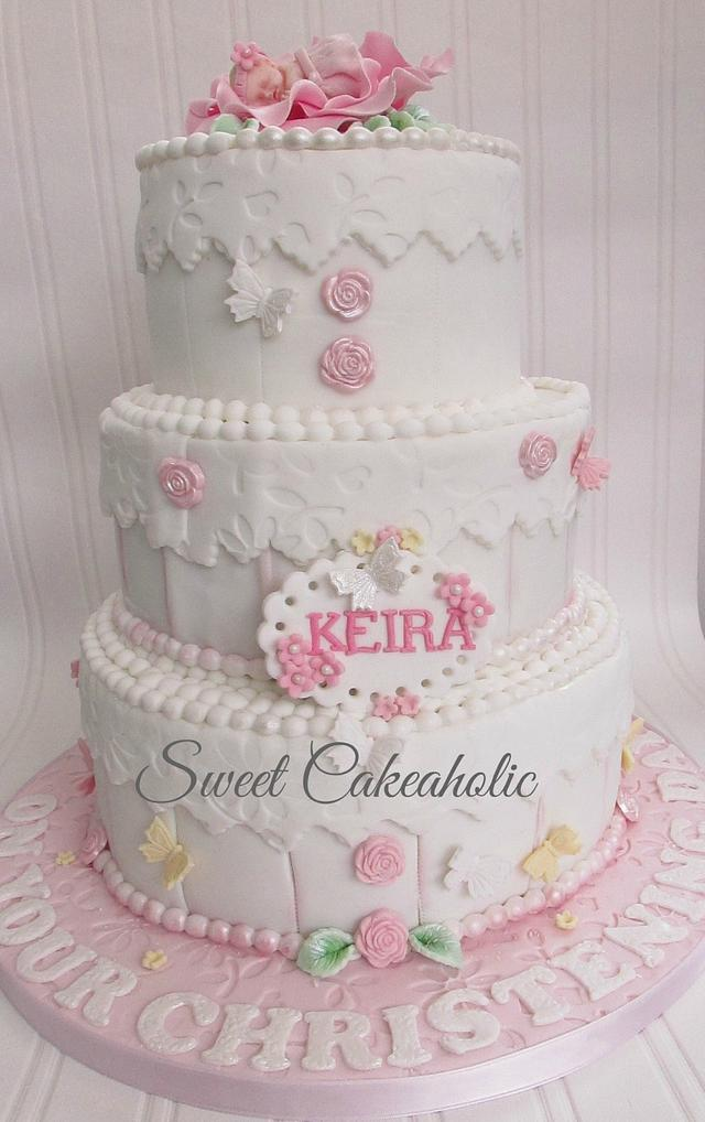 My grand daughter's christening cake