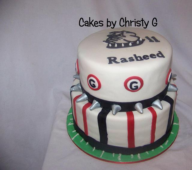 Fantastic Georgia Bulldog Fan Cake Cake By Cakes By Christy G Cakesdecor Funny Birthday Cards Online Elaedamsfinfo