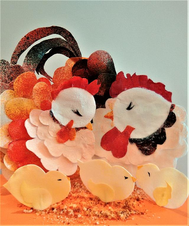 Hens - Animal Rights Cake Collab