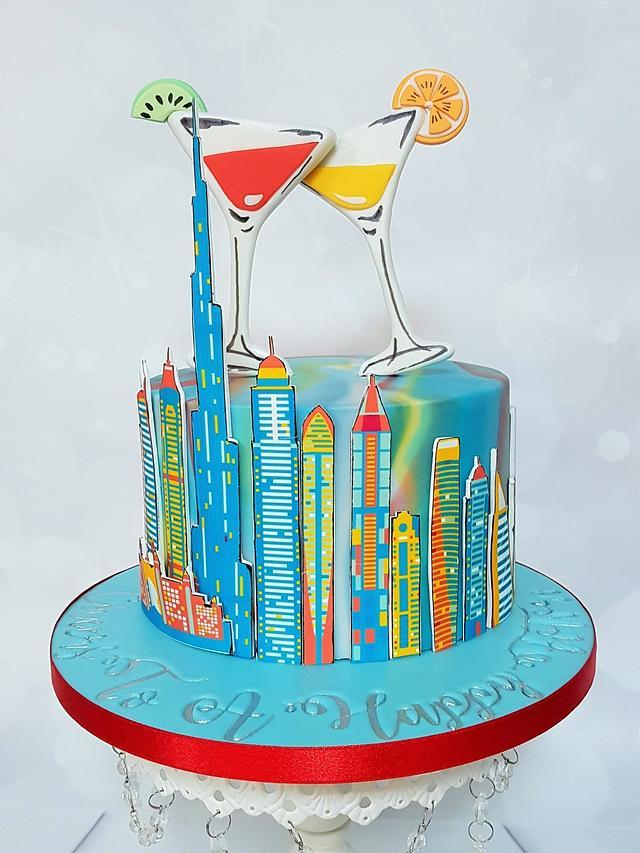 Farewell cake Dubai