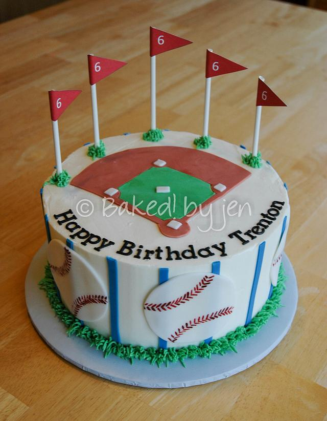 Awe Inspiring Baseball Birthday Cake Cake By Jen Cakesdecor Funny Birthday Cards Online Fluifree Goldxyz