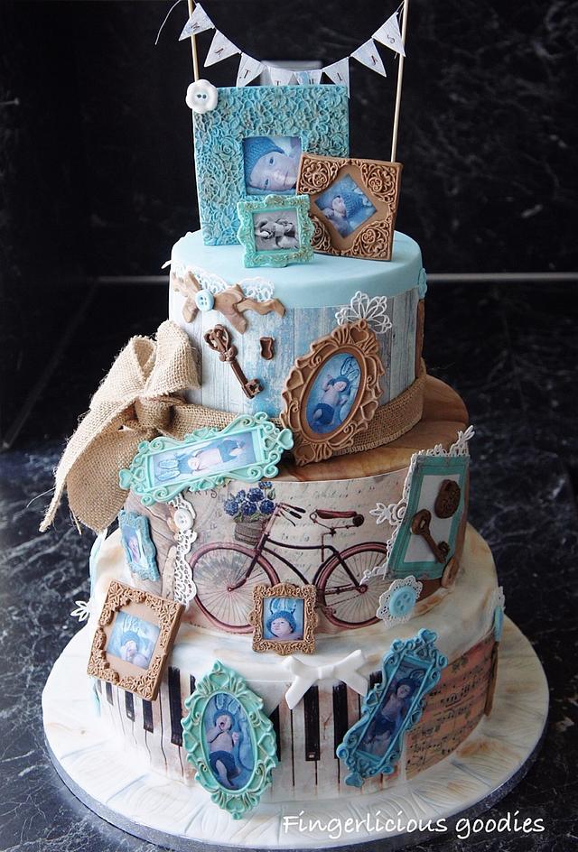 Vintage shabby chic inspired cake