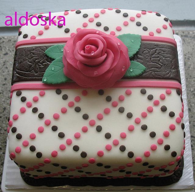 Polka dots and rose