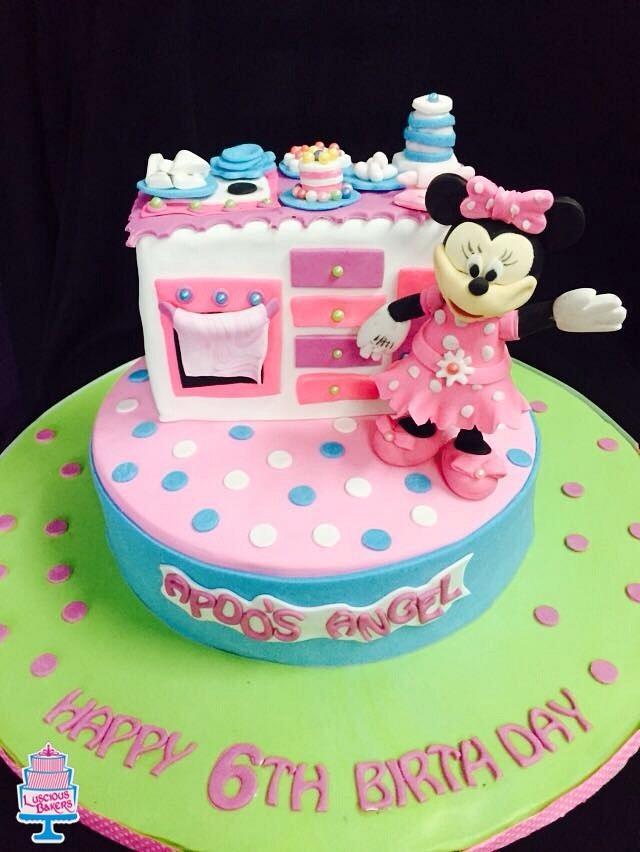 Mini mouse kitchen cake