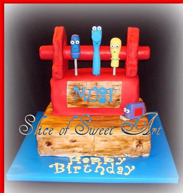 Wondrous Handy Manny Birthday Cake By Slice Of Sweet Art Cakesdecor Birthday Cards Printable Inklcafe Filternl