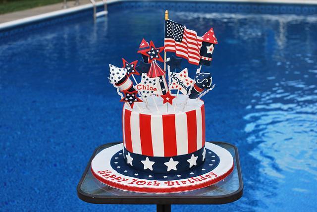 Strange Patriotic Birthday Cake Cake By Redheadcakes Cakesdecor Funny Birthday Cards Online Fluifree Goldxyz