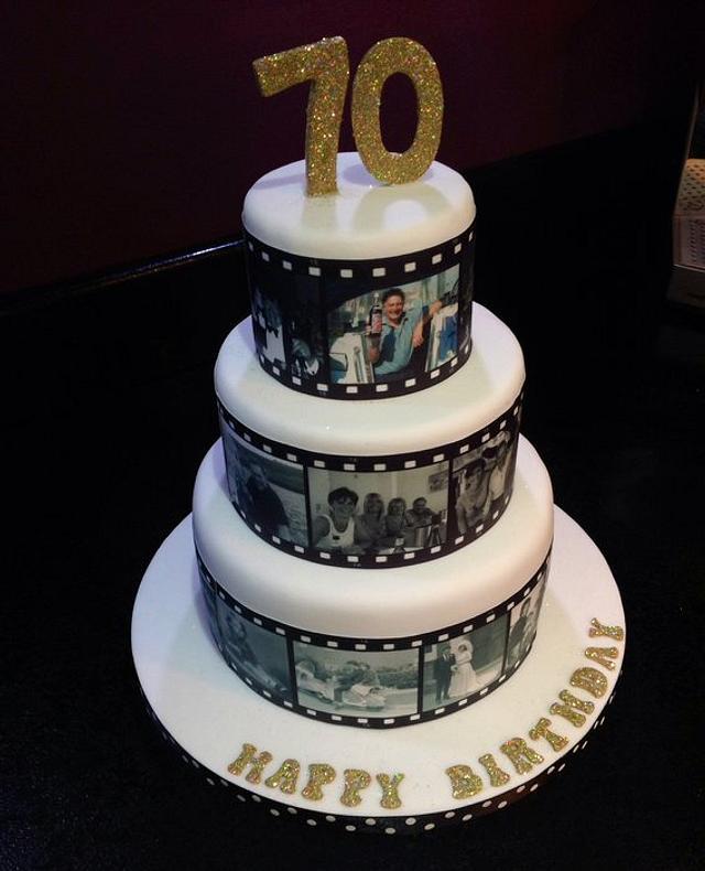 Film roll cake
