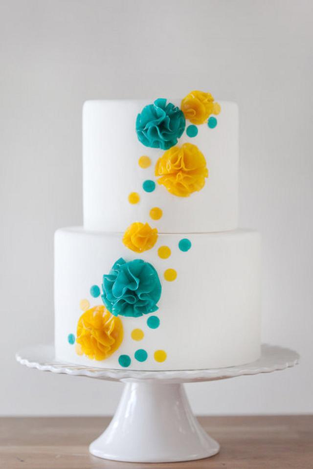 Fruit Leather Flower Cake
