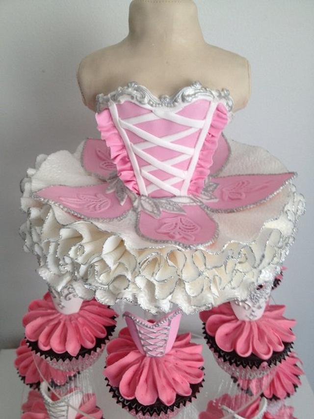 Ballerina themed cake
