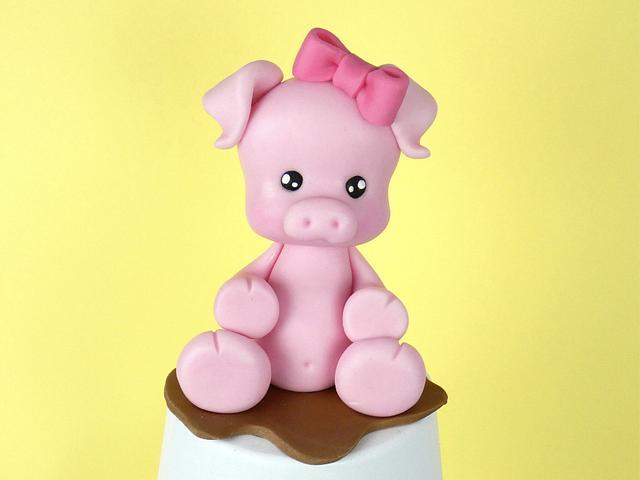 Pig cake topper