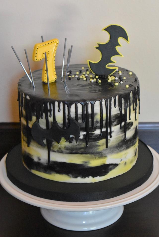 Outstanding Batman Birthday Cake Cake By Misty Cakesdecor Funny Birthday Cards Online Alyptdamsfinfo