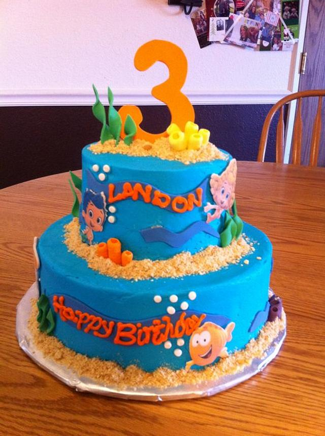 Admirable Bubble Guppies Birthday Cake Cake By The Ruffled Crumb Cakesdecor Funny Birthday Cards Online Alyptdamsfinfo