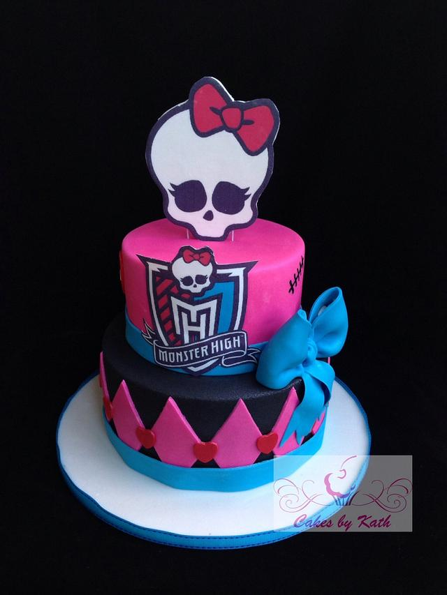 Admirable Monster High Birthday Cake Cake By Cakes By Kath Cakesdecor Funny Birthday Cards Online Fluifree Goldxyz