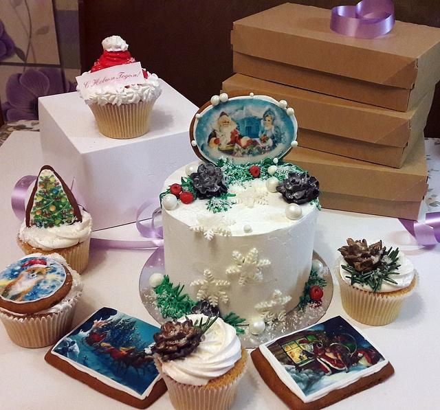 Новогодний торт имбирное печенье