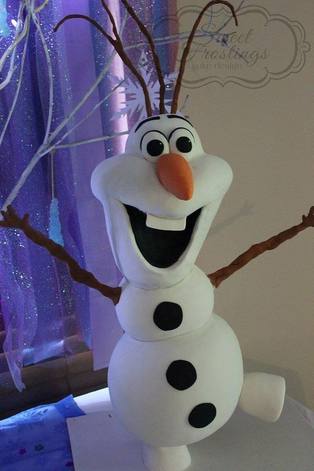 Cool Olaf Birthday Cake Cake By Sweet Frostings Cake Design Cakesdecor Funny Birthday Cards Online Alyptdamsfinfo