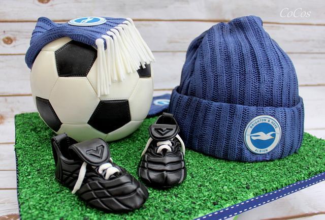 football /soccer cake