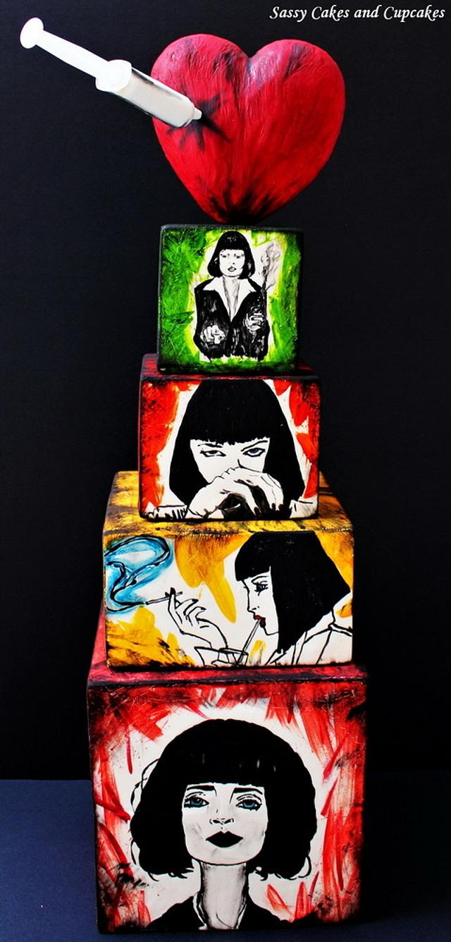 Mia Wallace (Pulp Fiction) - Cake Flix Collaboration