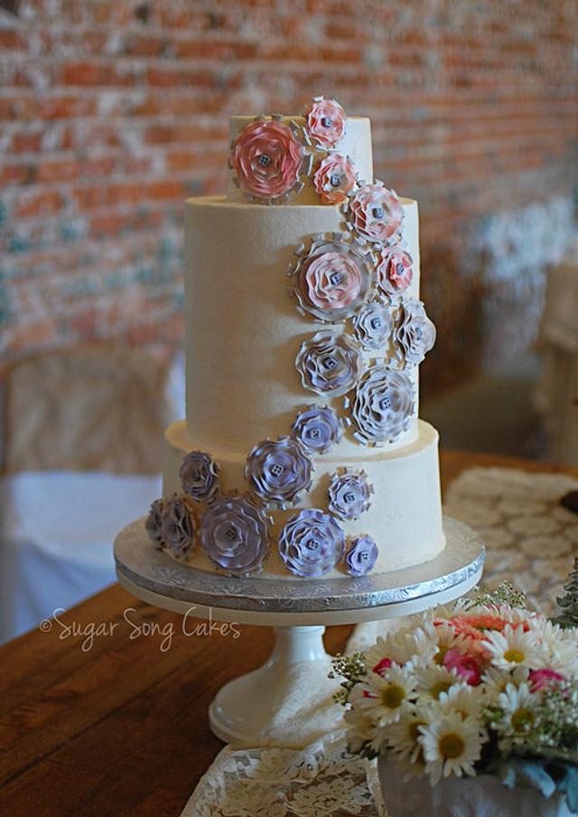 Steampunk 'Light' Wedding Cake