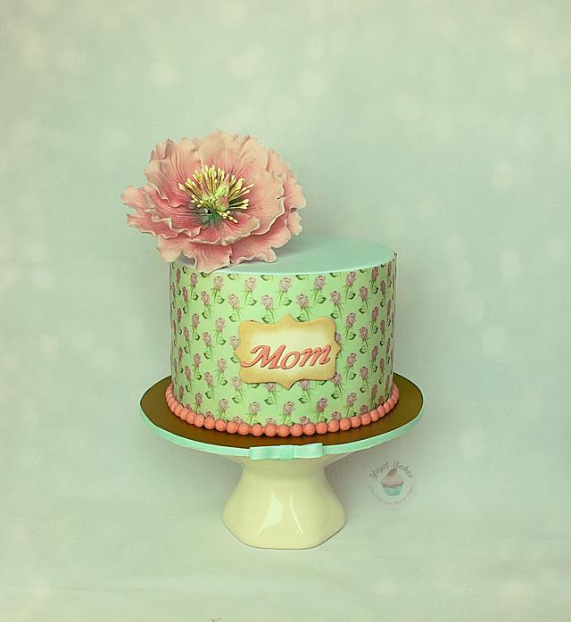 Vintage inspired Mother's Day cake