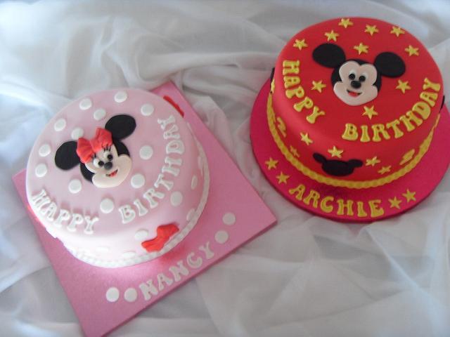Admirable Mickey Minnie 2Nd Birthday Cakes Cake By Christine Cakesdecor Funny Birthday Cards Online Overcheapnameinfo