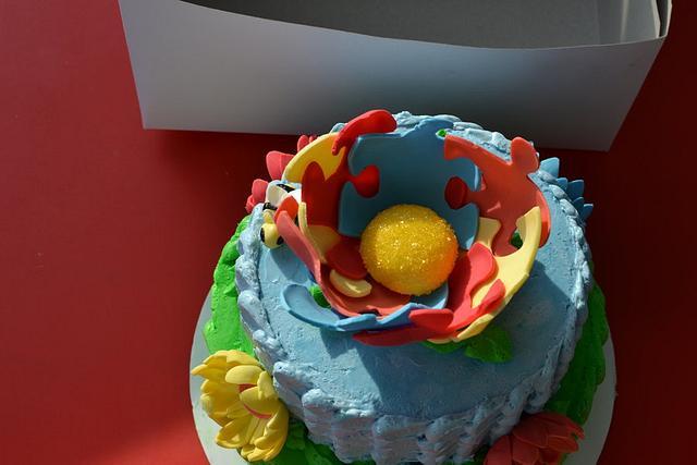 Autism Awareness Cake