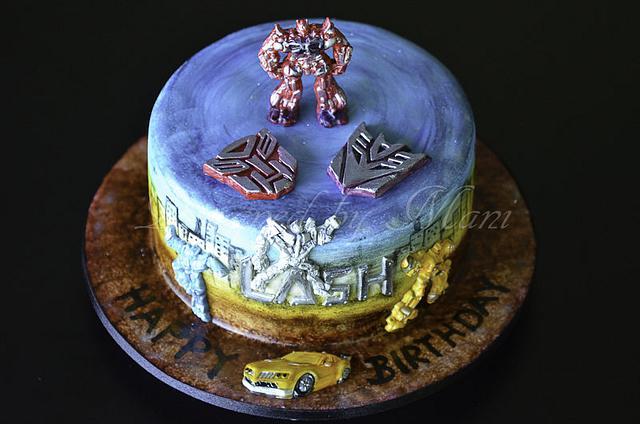transformers b'day cake