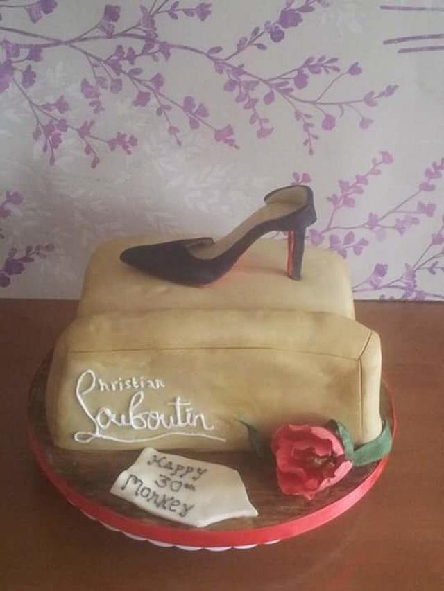 Christian Louboutin Shoe Box 30th Cake