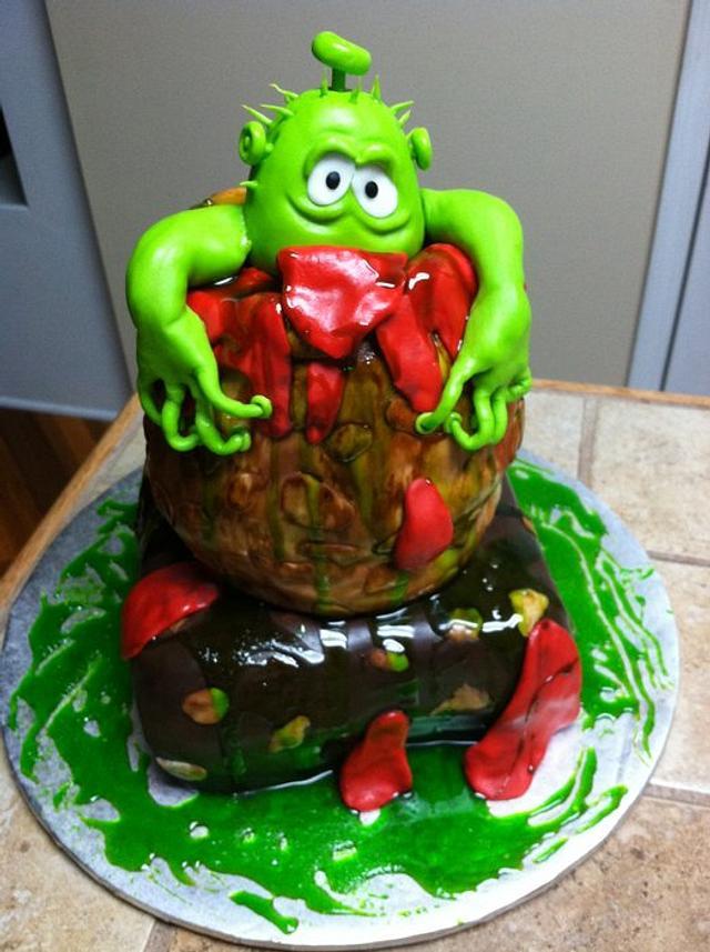An alien cake