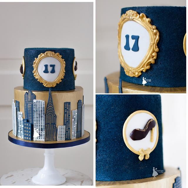 Chique sweet 17 cake