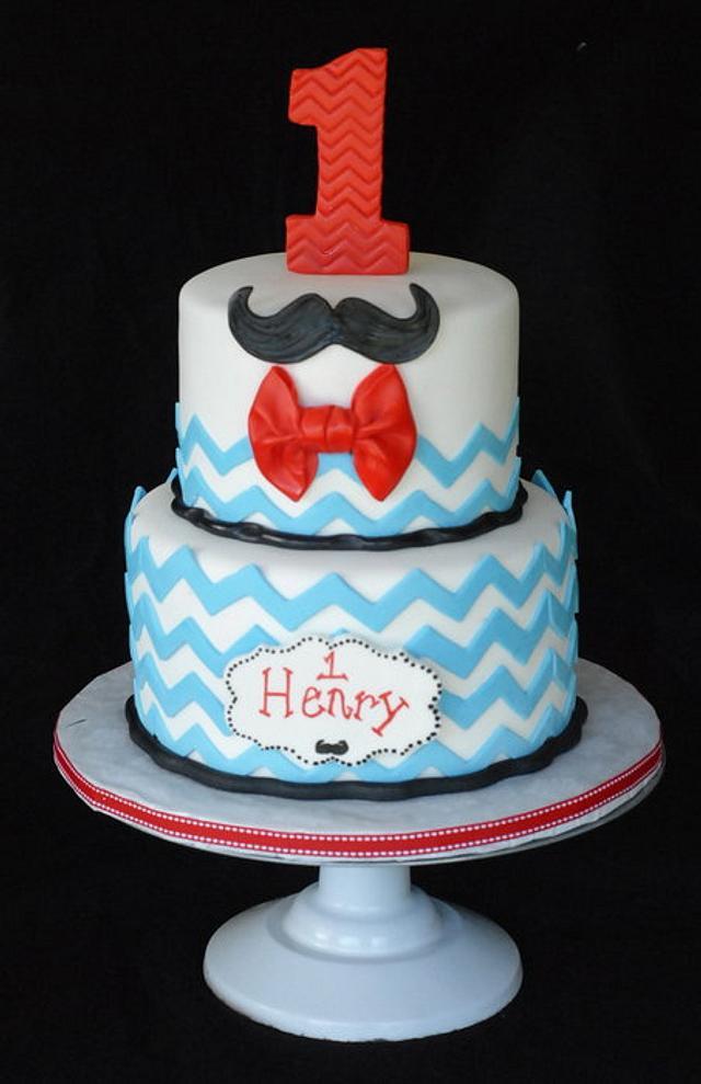 Mustache Bash Cake