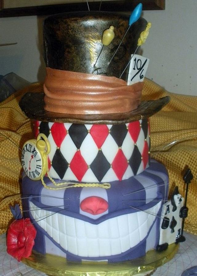 Mad Hatter/Alice in Wonderland Cake