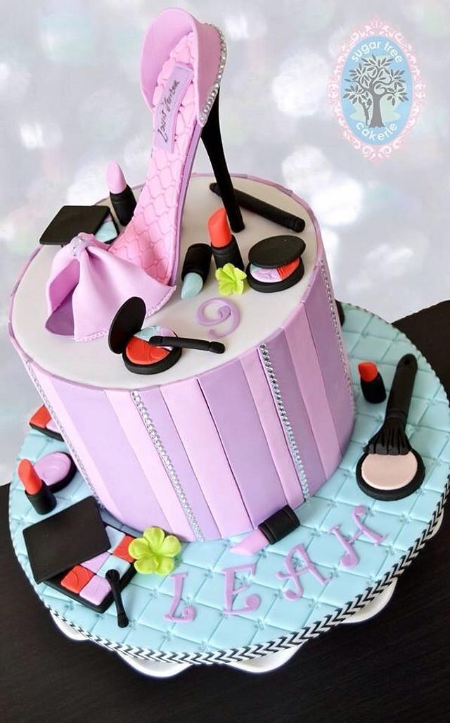 Miraculous Makeup High Heel Shoe Cake Cake By Sugar Tree Cakerie Cakesdecor Birthday Cards Printable Inklcafe Filternl