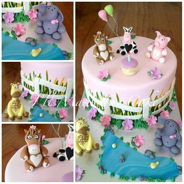 Animal themed Birthday cake.