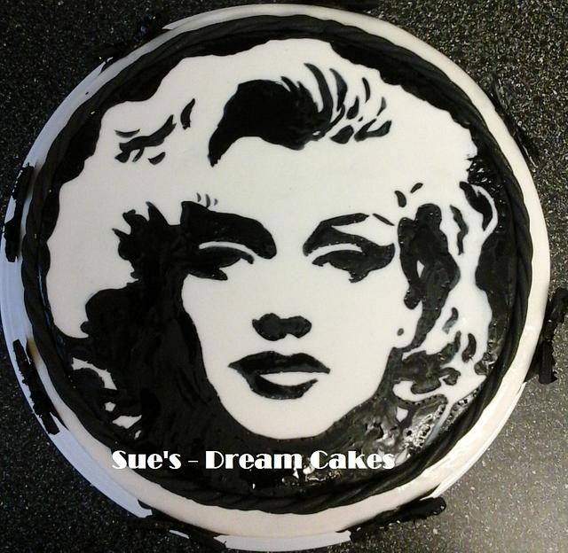 Marilyn - hand painted!