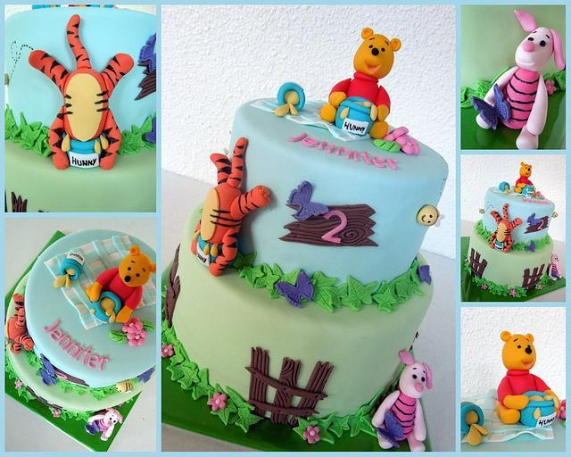 Amazing Winnie The Pooh Birthday Cake Cake By Taart Van Eigen Cakesdecor Funny Birthday Cards Online Necthendildamsfinfo