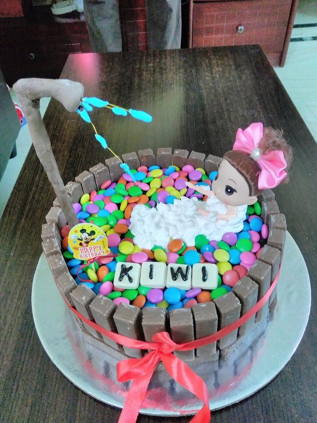 Doll Bathtub Kitkat cake