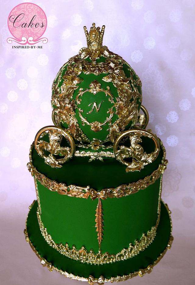 Baroque inspired Cinderella carriage cake