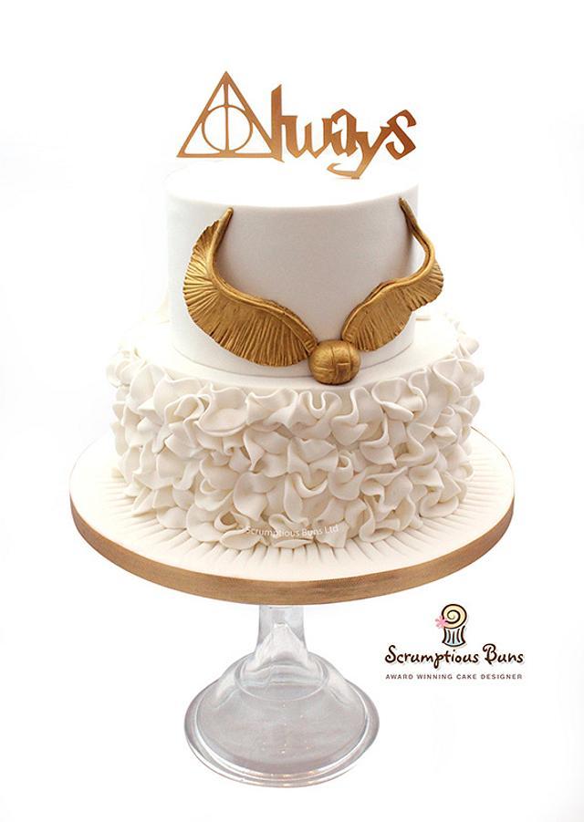 Harry Potter Deathly Hallows Wedding Cake