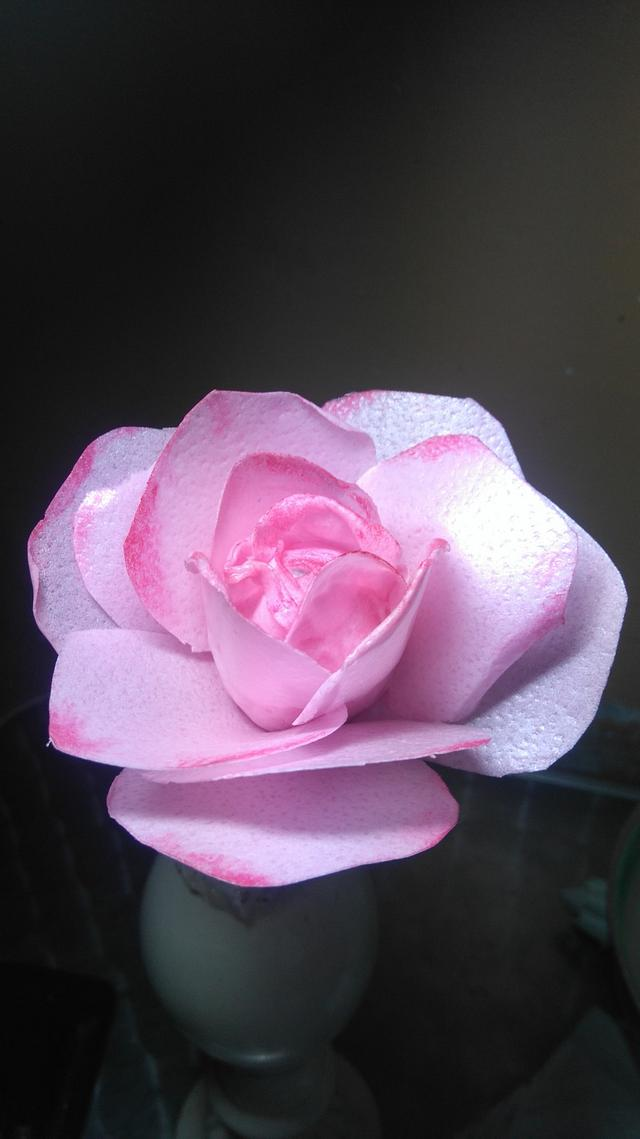 Wafer paper pink rose