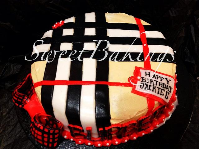 Burberry Themed Cake