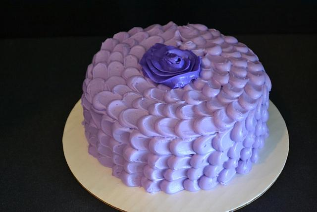 My first petal effect cake!