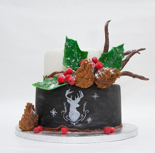 Navidad en el bosque, para Sweet Christmas Cake Collaboration Chile
