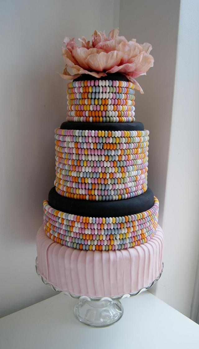 Candy necklace cake