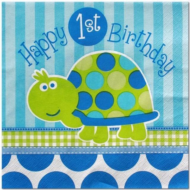 Turtle 1st Birthday cake