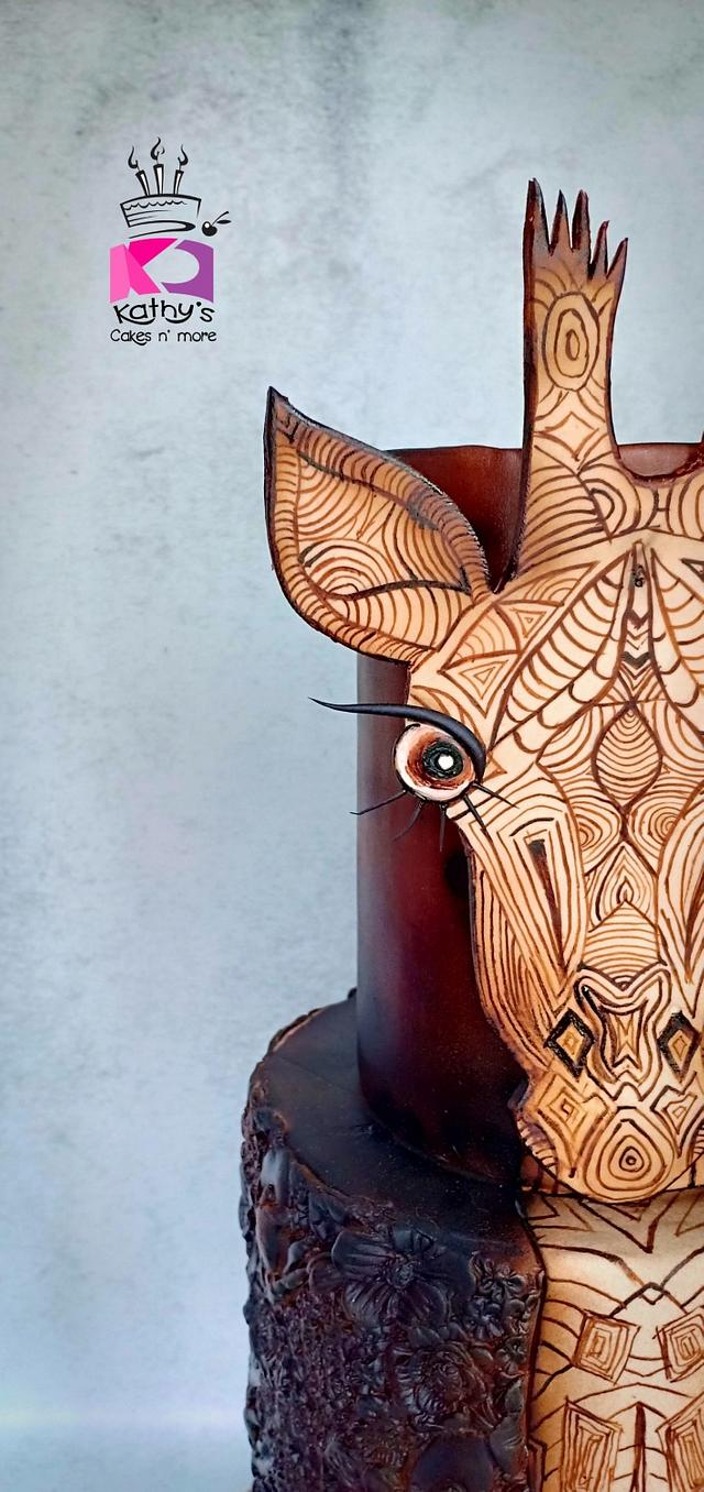 Doodled Giraffe - Jirafas The Challenge